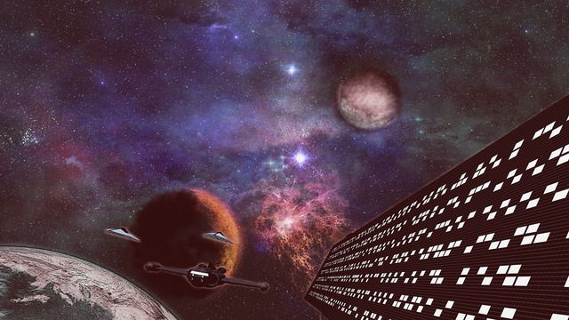Science fiction all alien, backgrounds textures.