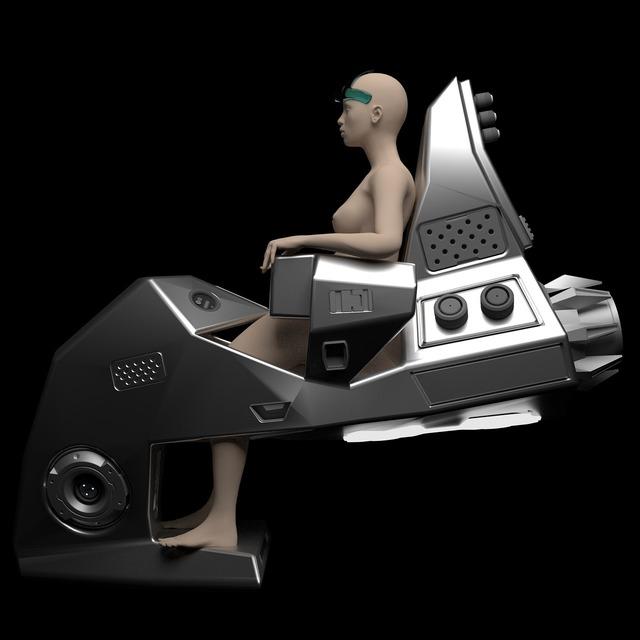 Science fiction conceptual design 3d.