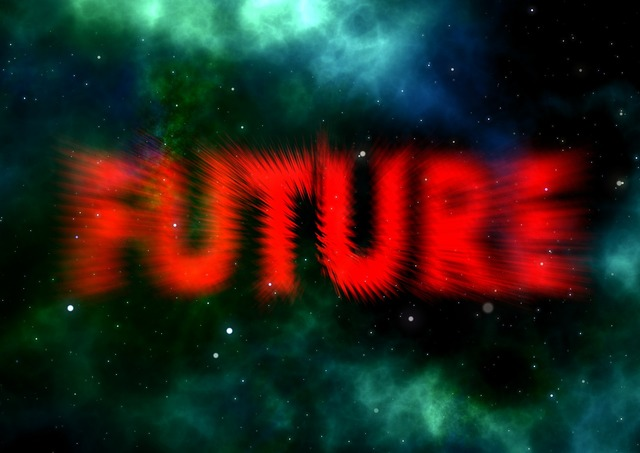 Science fiction forward space, science technology.