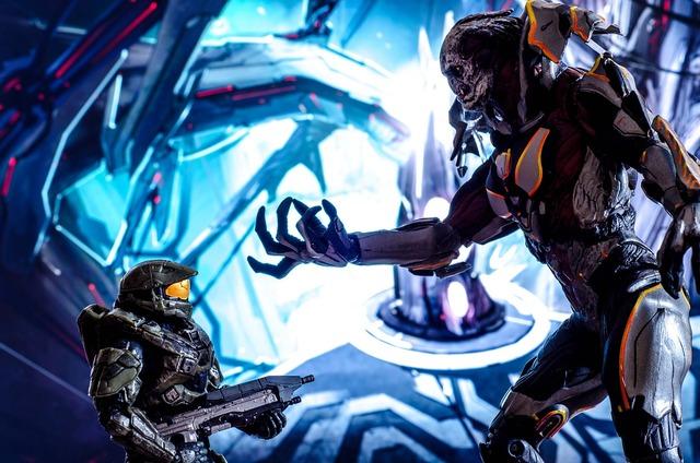 Science fiction soldier battle.