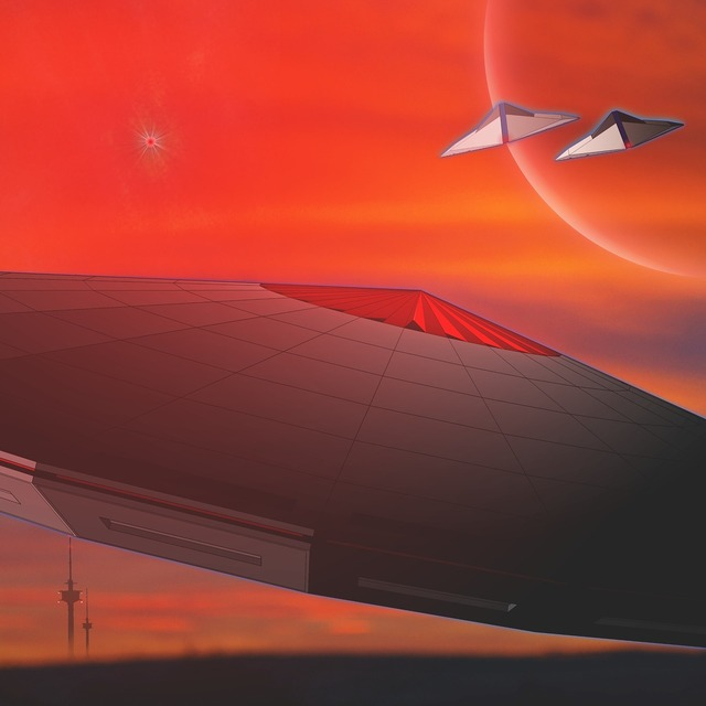 Science fiction ufo forward.