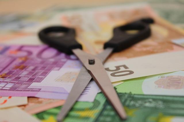 Scissors money salary, business finance.