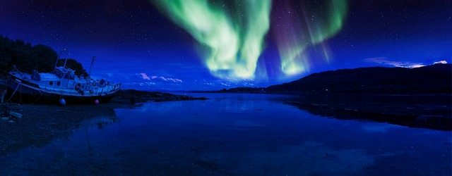 Scotland aurora isle of mull, travel vacation.