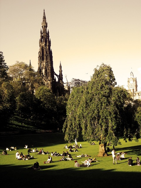 Scott monument edinburgh scotland, architecture buildings.