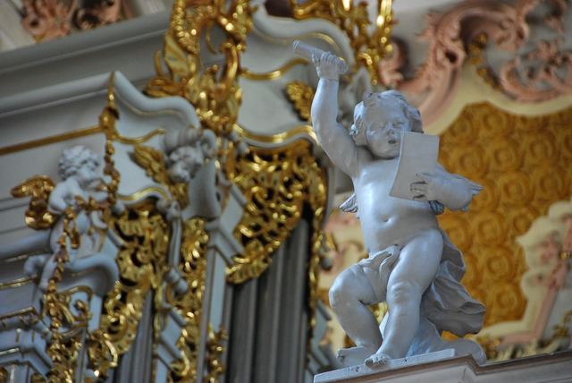 Sculpture angel church, religion.