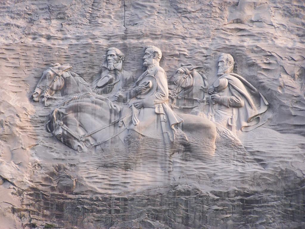 Sculpture bas-relief large, nature landscapes.