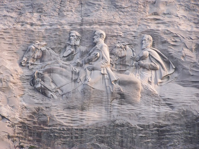 Sculpture bas-relief large, nature landscapes.