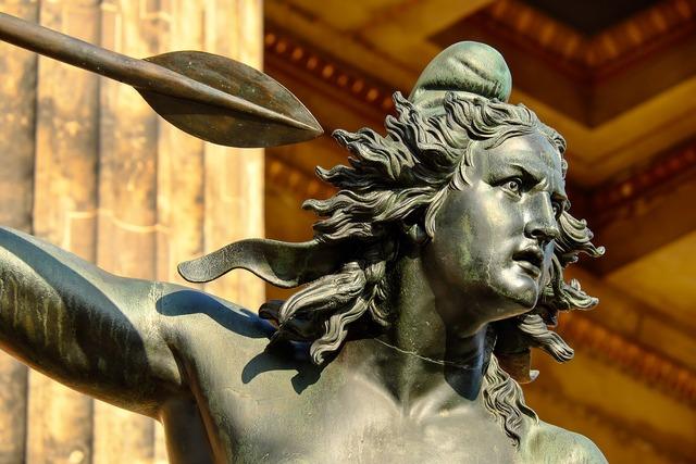 Sculpture bronze woman, beauty fashion.