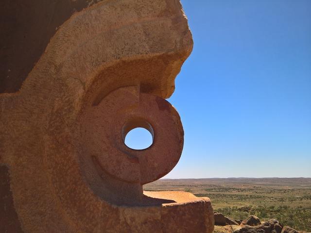 Sculpture rock desert, nature landscapes.