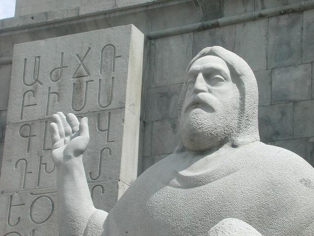Sculpture stone sculpture figure, architecture buildings.