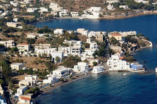 Sea bay greek city.