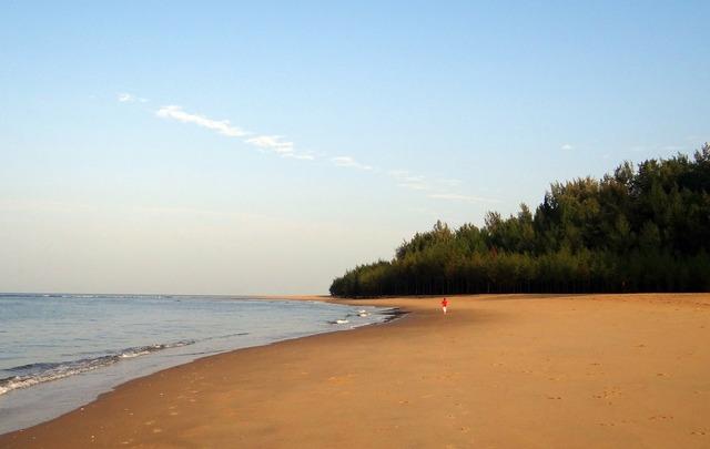 Sea beach arabian sea golden sand.