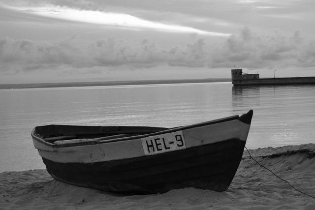 Sea beach boat, travel vacation.