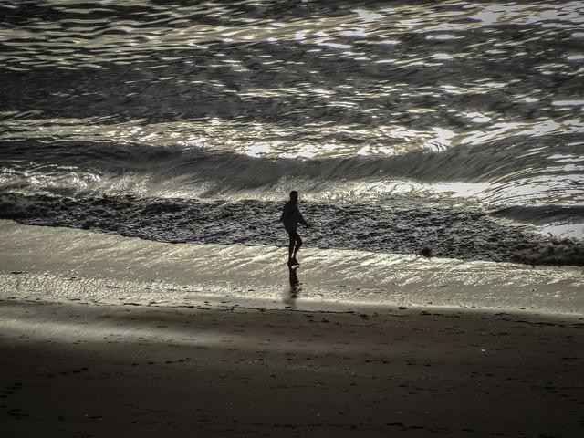 Sea beach landscape, travel vacation.