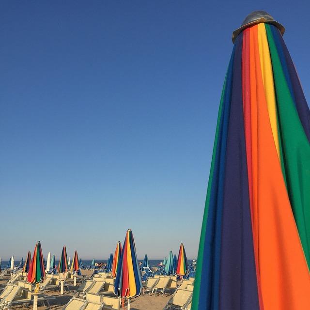 Sea beach rimini, travel vacation.