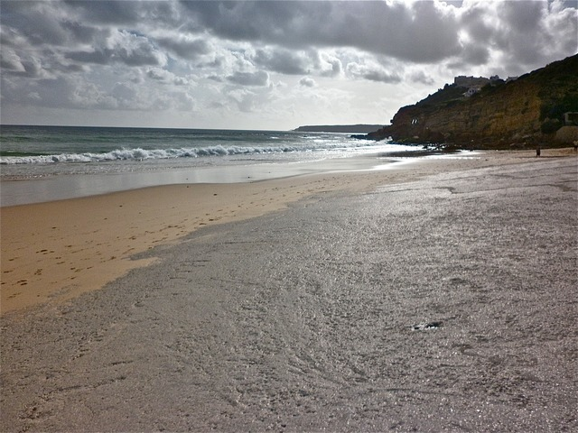 Sea beach sand, travel vacation.