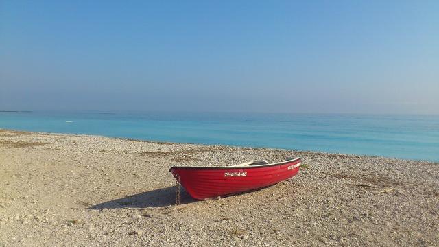 Sea beach ships, travel vacation.