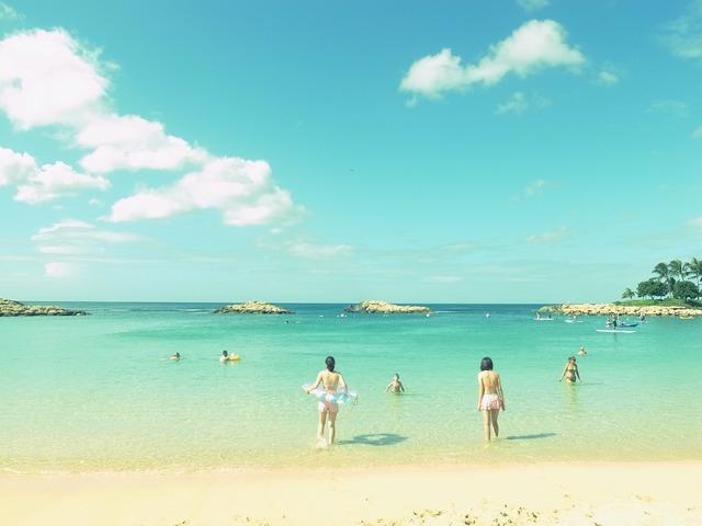 Sea beach summer, travel vacation.