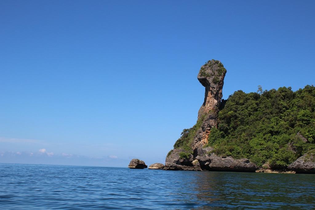 Sea beach thailand, travel vacation.