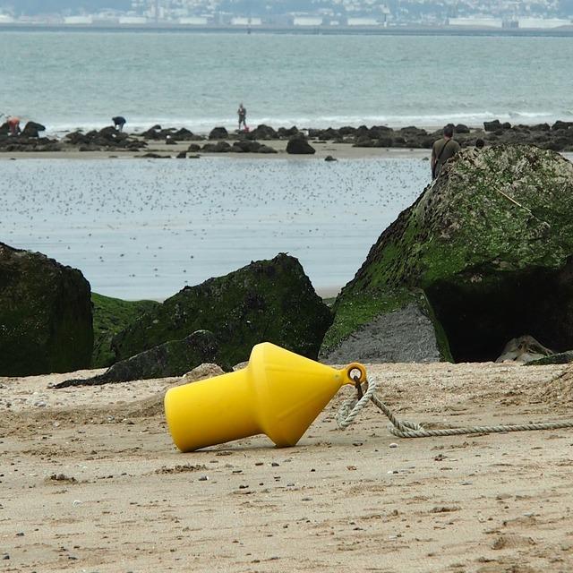 Sea beach trouville, travel vacation.