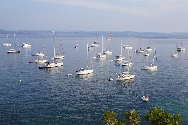 Sea france sailing boat.