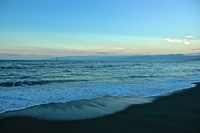Sea japan wave, travel vacation.