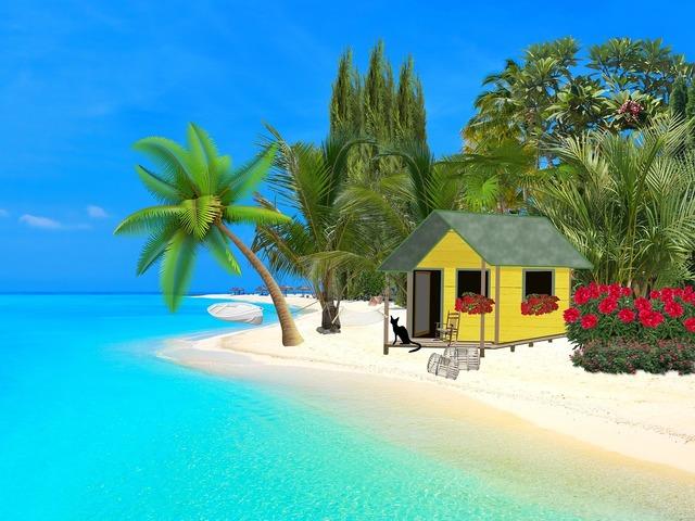 Sea ocean sand, travel vacation.