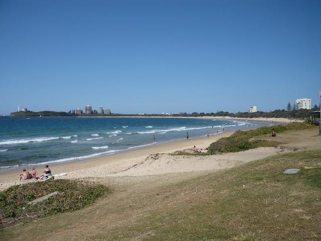 Sea sand beach blue sky, travel vacation.