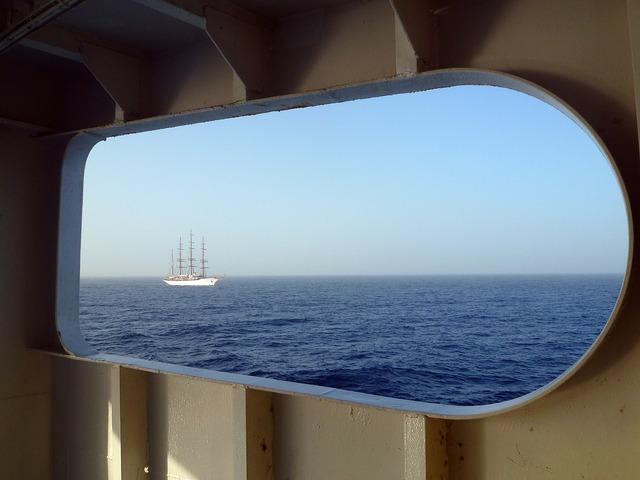 Sea shipping yacht.
