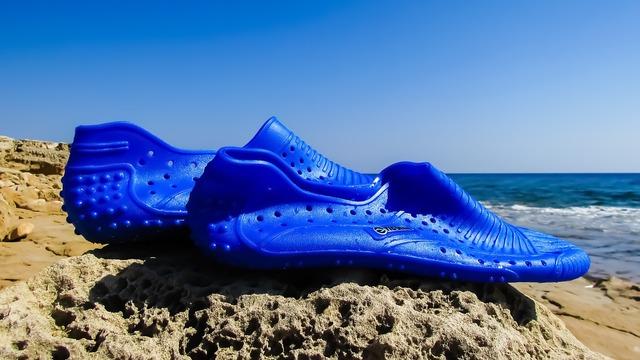 Sea shoes sea equipment.