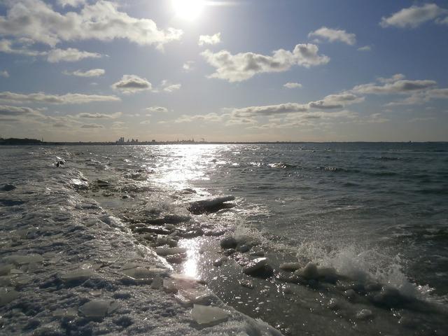 Sea sun ice, travel vacation.
