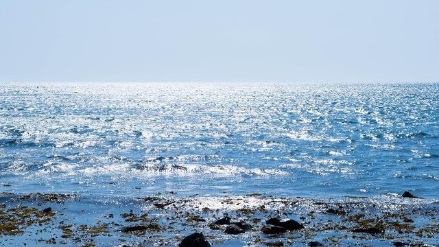 Sea sunlight seascape.
