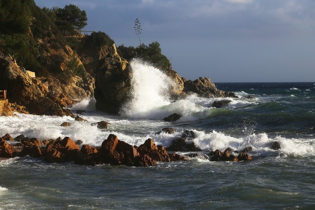Sea wave element, travel vacation.