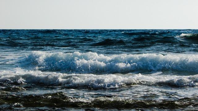 Sea wave foam, travel vacation.