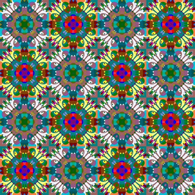 Seamless pattern decoration, backgrounds textures.