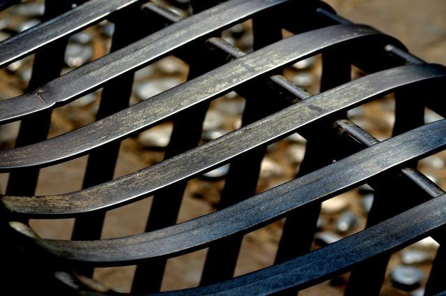 Seat iron metal.