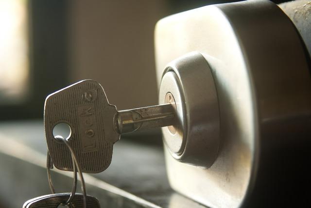 Security lock key.
