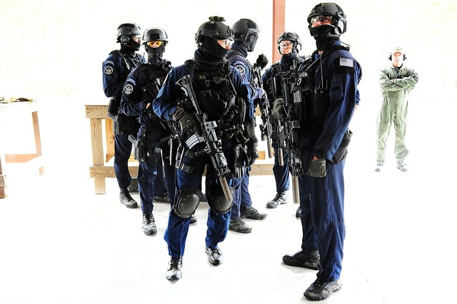 Security response team coast guard weapons.