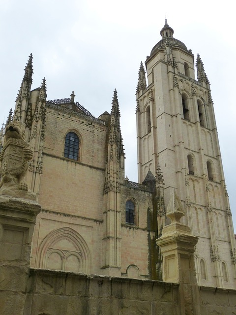 Segovia cathedral spain, architecture buildings.