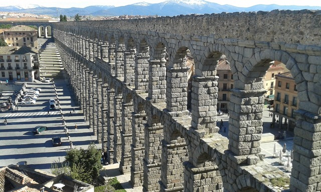 Segovia spain aqueduct, places monuments.