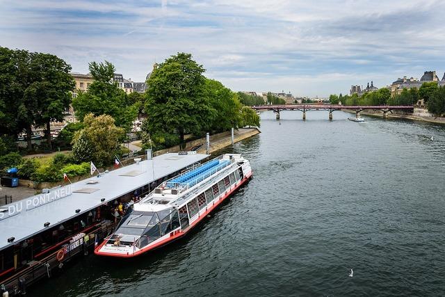 Seine river paris france, architecture buildings.