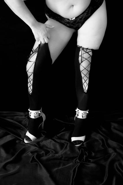 Sensual sensuality black and white, beauty fashion.