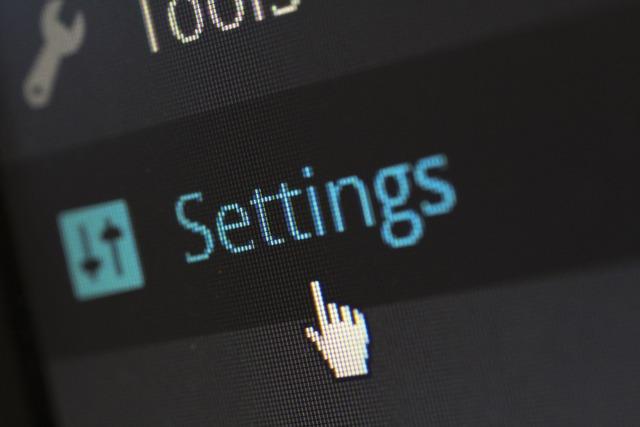 Settings options software, computer communication.