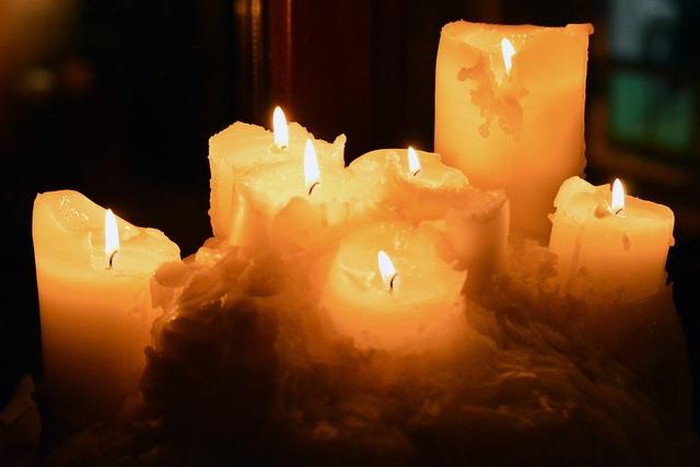 Seven candles lit.