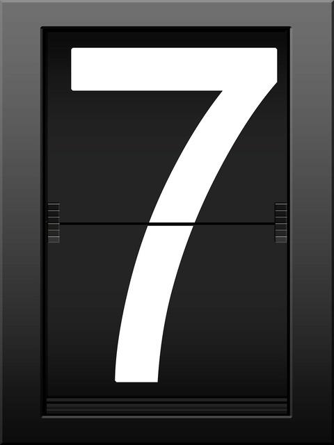 Seven timeline display panel.
