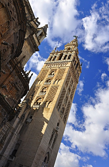 Seville cathedral spain, architecture buildings.