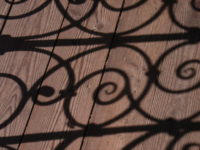 Shadow grid wrought iron, architecture buildings.