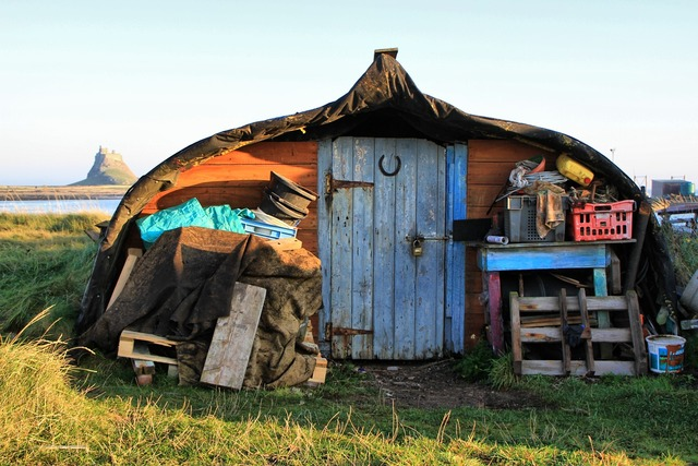 Shed hut old.