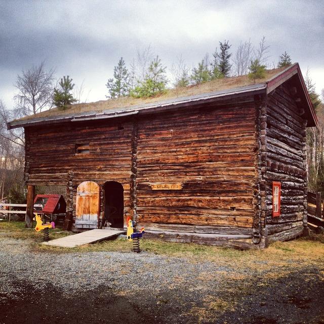 Shed shack cabin, nature landscapes.