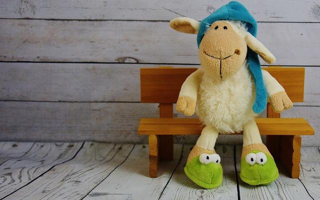 Sheep sleepyhead cap.